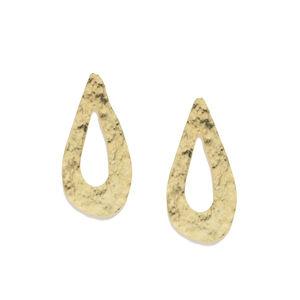 Gold-Toned Teardrop Shaped Studs