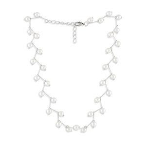 Toniq Silver Delight Pearl Charm Necklace For Women