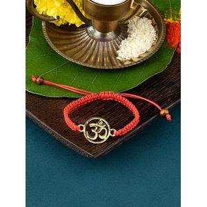 Toniq  Gold- Plated 'Om' Rakhi