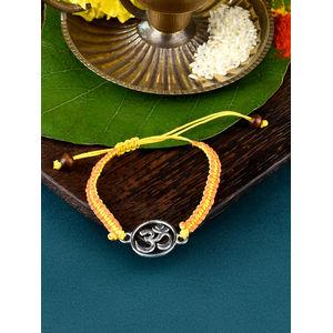 Toniq Silver- Plated 'Om' Rakhi