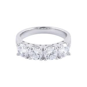 Amavi Spark Eternity AD Embellished Ring For Women