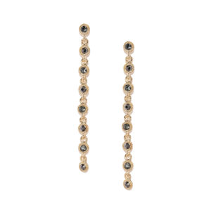 Gold-Toned Stone Studded Contemporary Drop Earrings