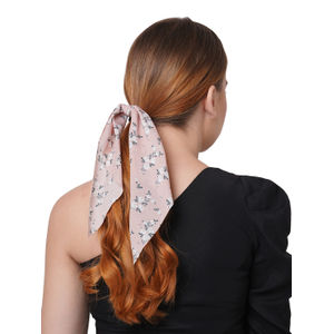 ToniQ Spring Bloom Pink Floral Scarf Rubberband