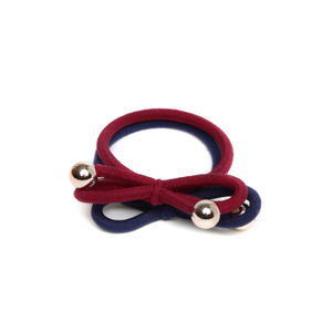 Set Of 2 Soft Bow Rubber Band For Women
