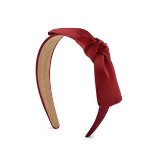 ToniQ Red Knotted Bow Head Band For Women