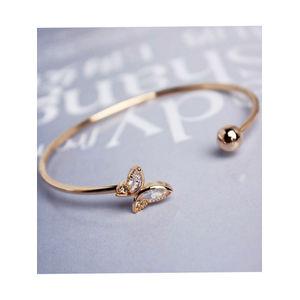 Toniq Gold Chic Butterfly Cuff Bracelet For Women