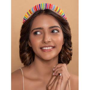 Toniq Rainbow Dreams Hand Beaded Hair Band For Women