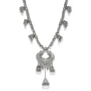 Oxidized Silver-Toned Tribal Necklace