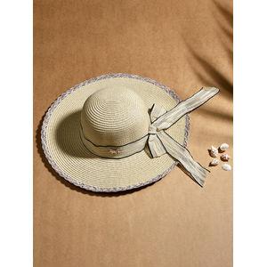 Toniq Hamptons White Wide Brim Ribbon Knotted Summer Beach Hats For Women