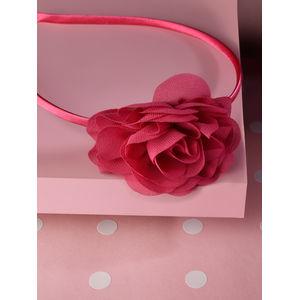 Toniq Kids Hot Pink Chiffon Flower Party Hair Band For Girls & Children