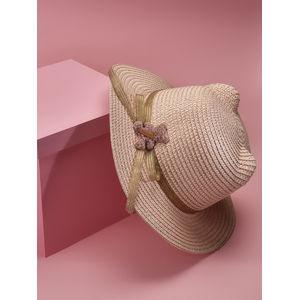 Toniq Kids Pink Pretty Meow Summer Hat For Girls & Children