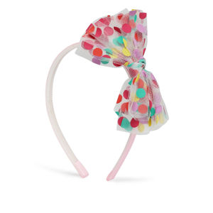 Dotty Pretty Tulle  Bow HairBand for Girls