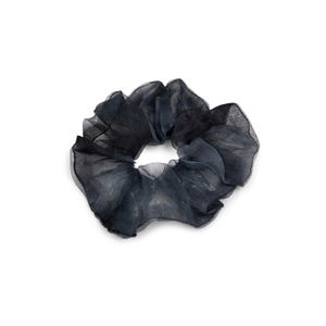 Toniq Chic Black Ombre Organza Hair Scrunchie For Women.