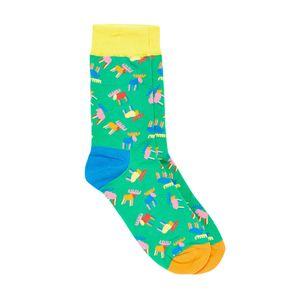 Bro Code Men Green Patterned Above Ankle-Length Socks