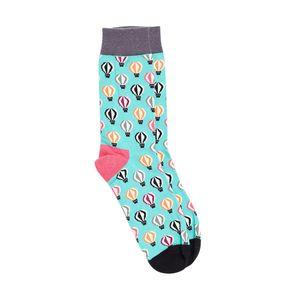 Bro Code Men Sea Green Patterned Above Ankle-Length Socks