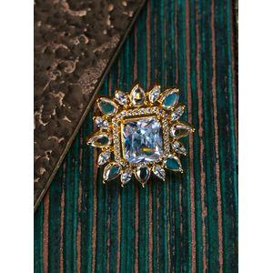 Diamond Petal Gold Plated Ring