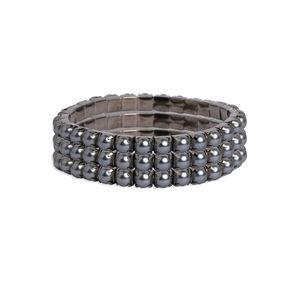 Toniq Trendy Black Set Of 3 Beaded Bracelet For Women