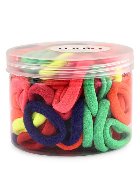 Mega Multicolor Set Of 100 Everyday Rubber Band Box For Women & Girls
