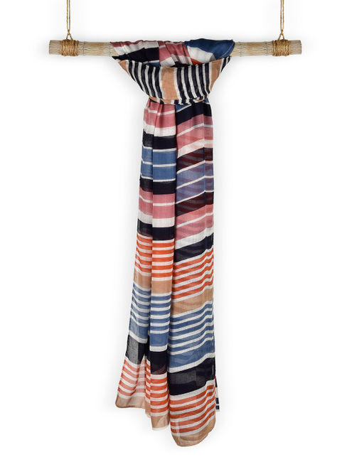 Classic summer on my mind multicolor striped scarf/Stole