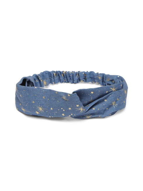 Women Blue Printed Hairband