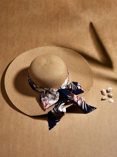 Toniq Venice Beach Beautiful Brown Printed Black Scarf Summer Beach Hats For Women