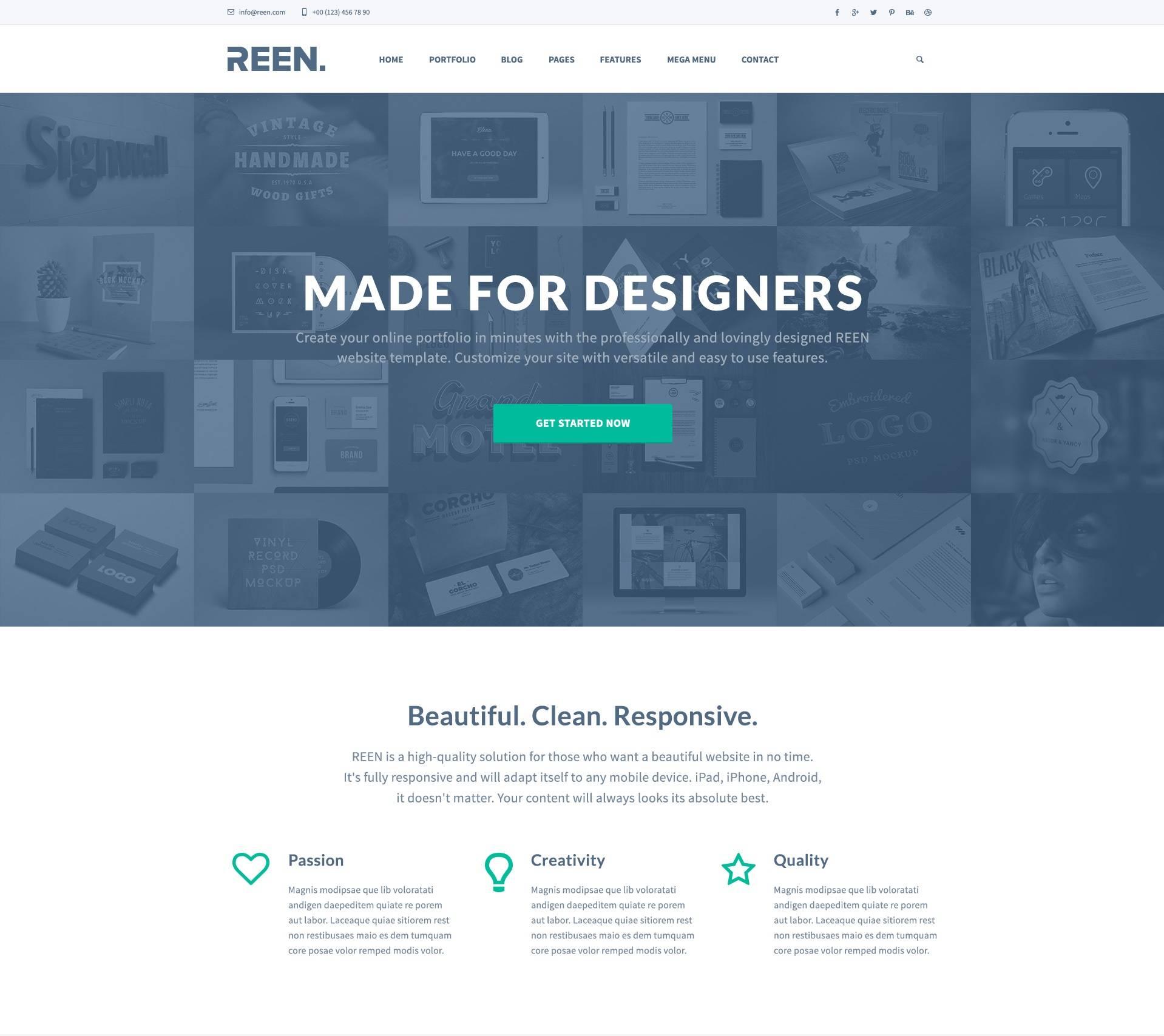 Designer Portfolio- free templates download for website