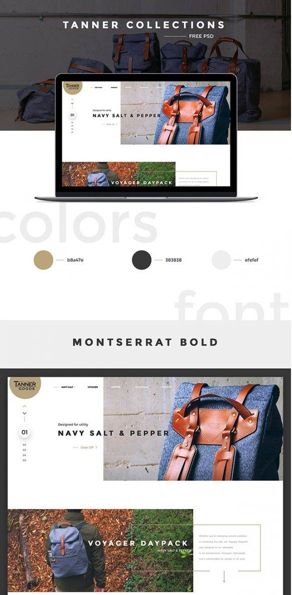 Tanner Collections- free templates download for website