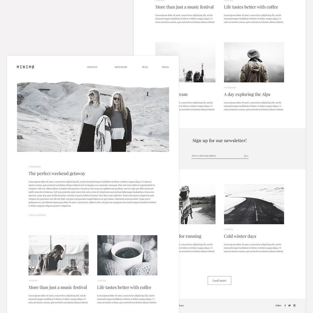Minimo- free templates download for website