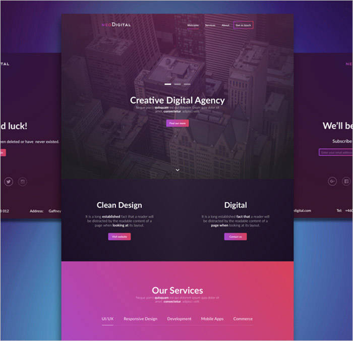 NeoDigital-free-psd-template-free templates download for website