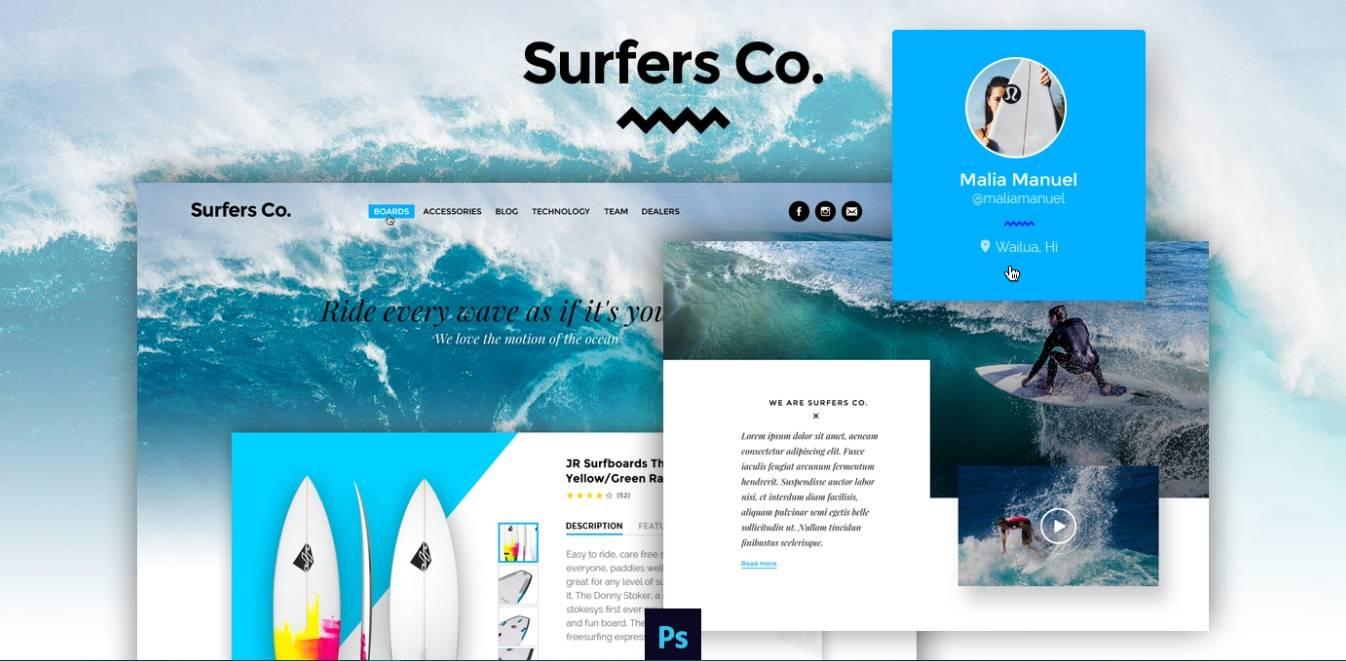 surfers co– a-bootstrap-psd template-free-templates-download-for-website