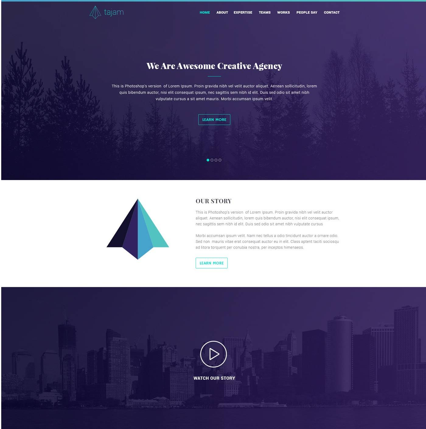 Tajam Agency- free psd templates download for website