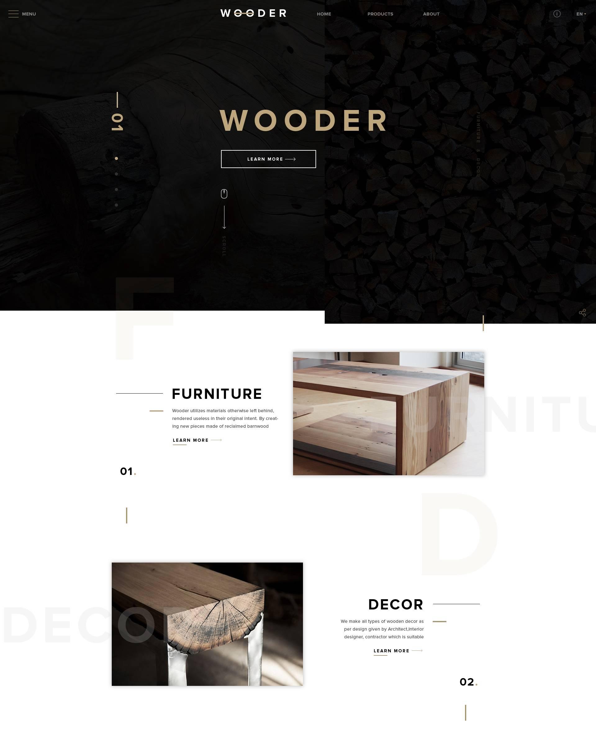 WOODER- free templates download for website
