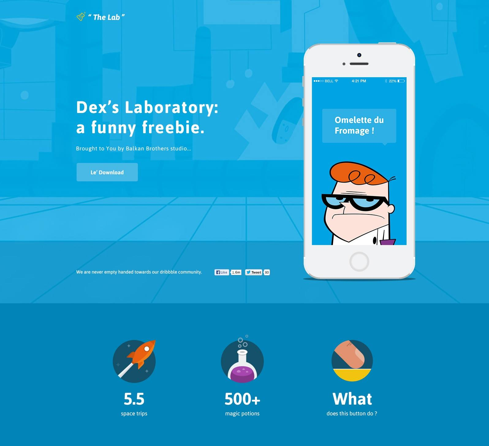 The Lab- free psd templates download for website