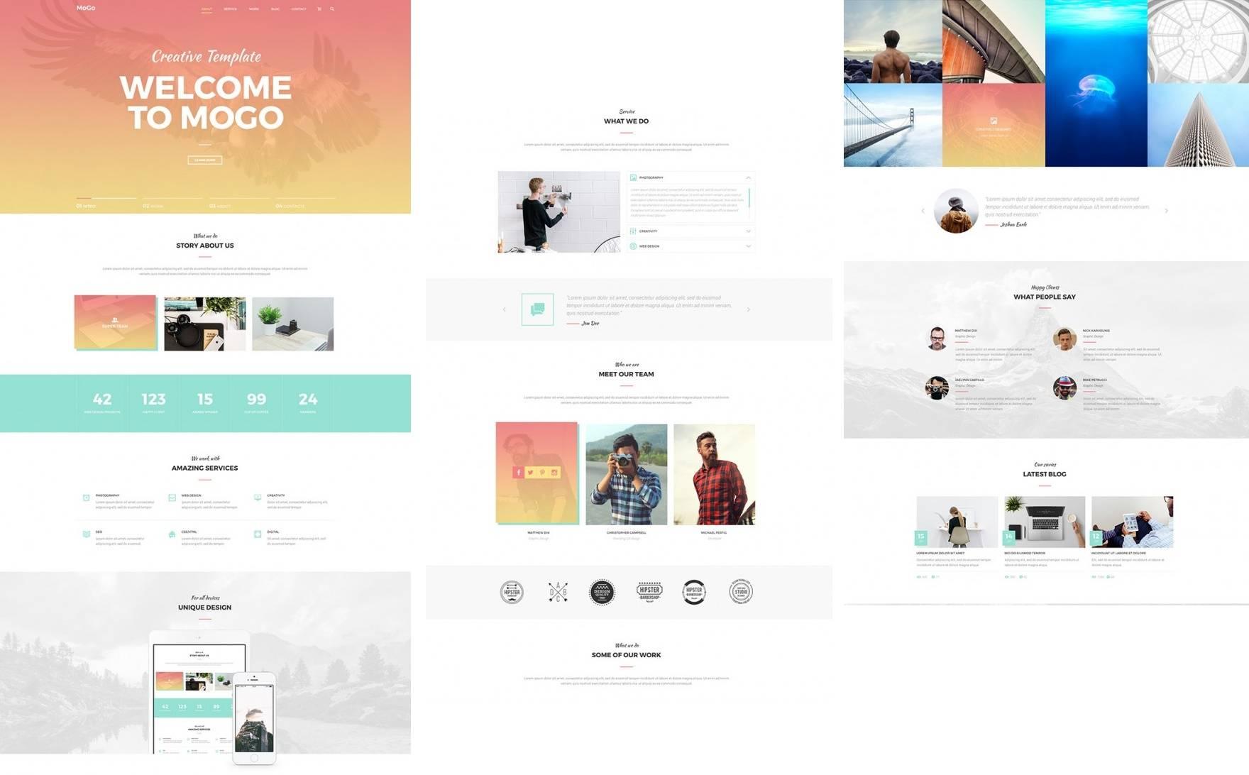 MoGo- free templates download for website
