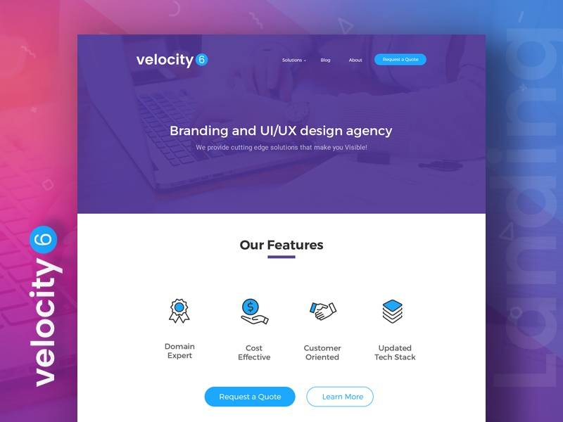 Velocity 6- free templates download for website