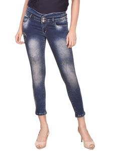 Coral  Women'S Fashionable Blue Jeans