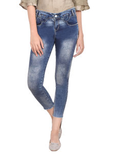 Coral  Women'S Faded Torn Jeans