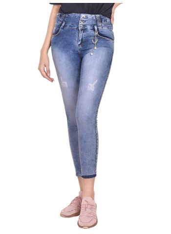Spice Women'S Distress Wash Jeans