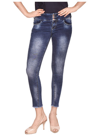 Coral  Women'S Straight Fit Blue Jeans