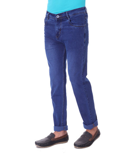 SHAMAN MENS BLUE  REGULAR FIT  JEANS