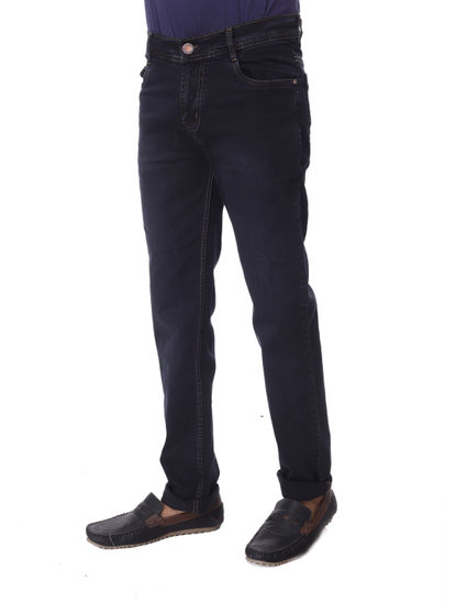 SHAMAN MENS BLACK  REGULAR FIT  JEANS