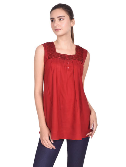 MISS19 WOMEN'S EMBROIDERY TOP