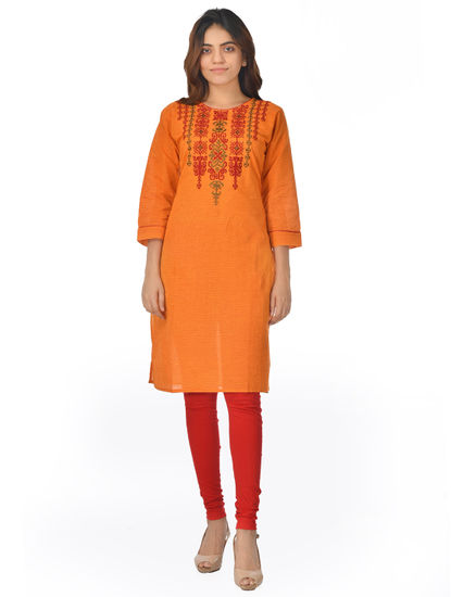 AWAYA WOMEN'S EMBROIDARY KNEE LENGTH KURTI