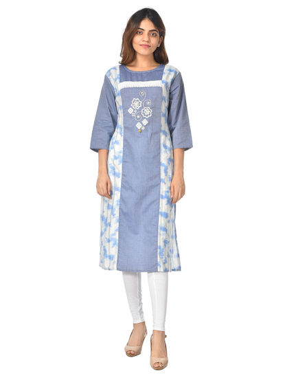 AWAYA WOMEN'S IKKAT COTTON KURTI