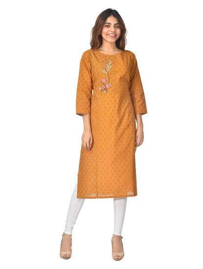 AWAYA WOMEN'S COTTON DOBBY KURTI