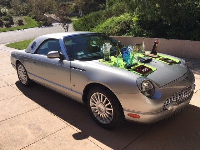 2004 Ford Thunderbird Premium Silver & Sand 7,800 Miles Concours winner