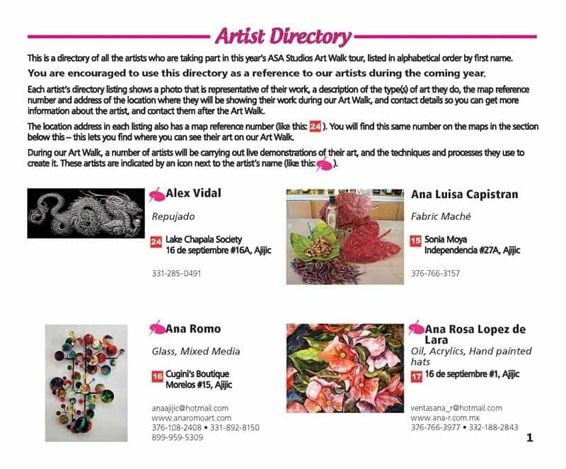 Artist Directory Page 1