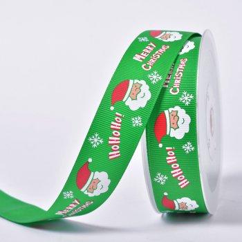 Custom Printed Grosgrain Christmas Ribbon For Gift Decoration