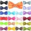 Wholesale adjustable satin bow ties for boys and men