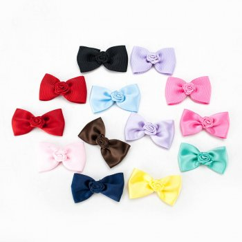 MingRibbon custom made ribbon bow, pre-made bow satin bow, handmade grosgrain bow 196 colors available